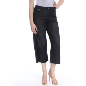 NWT Ralph Lauren Black Mid Rise Wide Leg Jeans